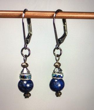 cool water jewelry EW506-179 Night Lights Gemstone/Crystal Rondell Drops-