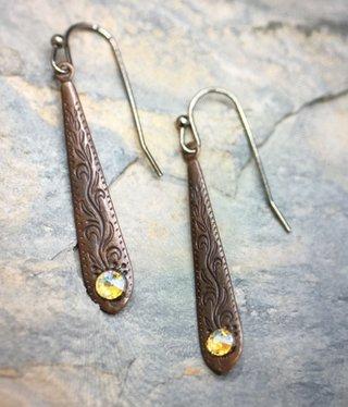cool water jewelry EW549-152 Going to the Sun-Narrow Vintage Teardrop/Flat Drop