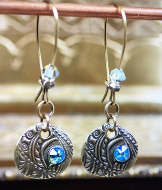 cool water jewelry EW558-183 Deep Spring-Flora & Shimmer Crystal