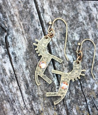 cool water jewelry EW562-153 Prairie Song-Horse & Shimmer Crystal