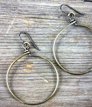 cool water jewelry EW577 Niobium Hook w/Large Hoop