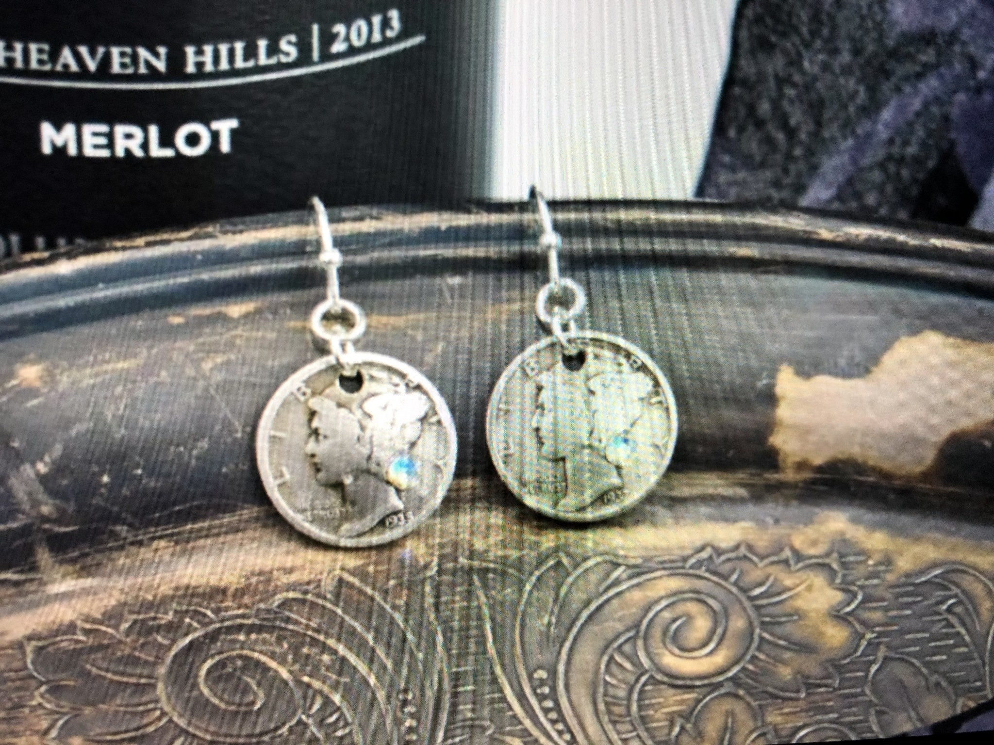 cool water jewelry EW594-190 Liberty- Dime & Crystal