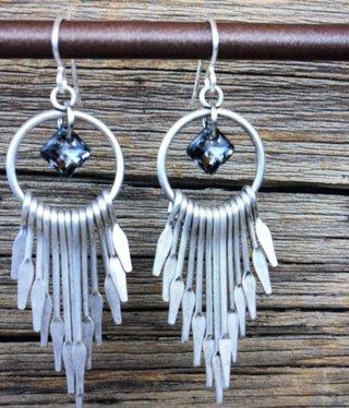 cool water jewelry EW625-196 Blackjack Ring/Paddle Drop & Crystal