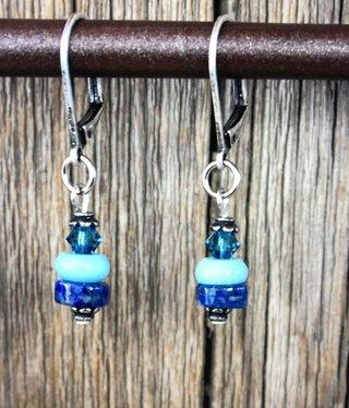 cool water jewelry EW632-197 Margaritaville Leverback w/Gemstone & Crystal Drop