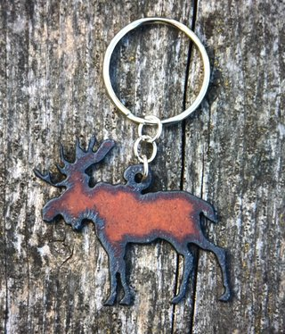 cool water jewelry KC15 Moose Charm Key Ring