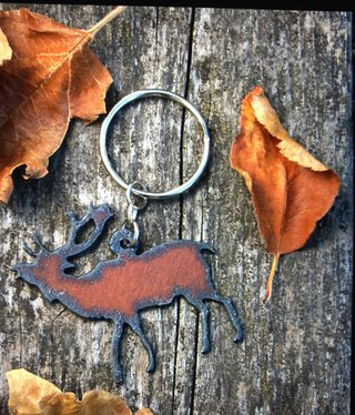 cool water jewelry KC16 Elk Charm Key Ring