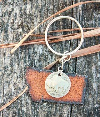 cool water jewelry KC18 Montana w/Buffalo Nickel Key Ring
