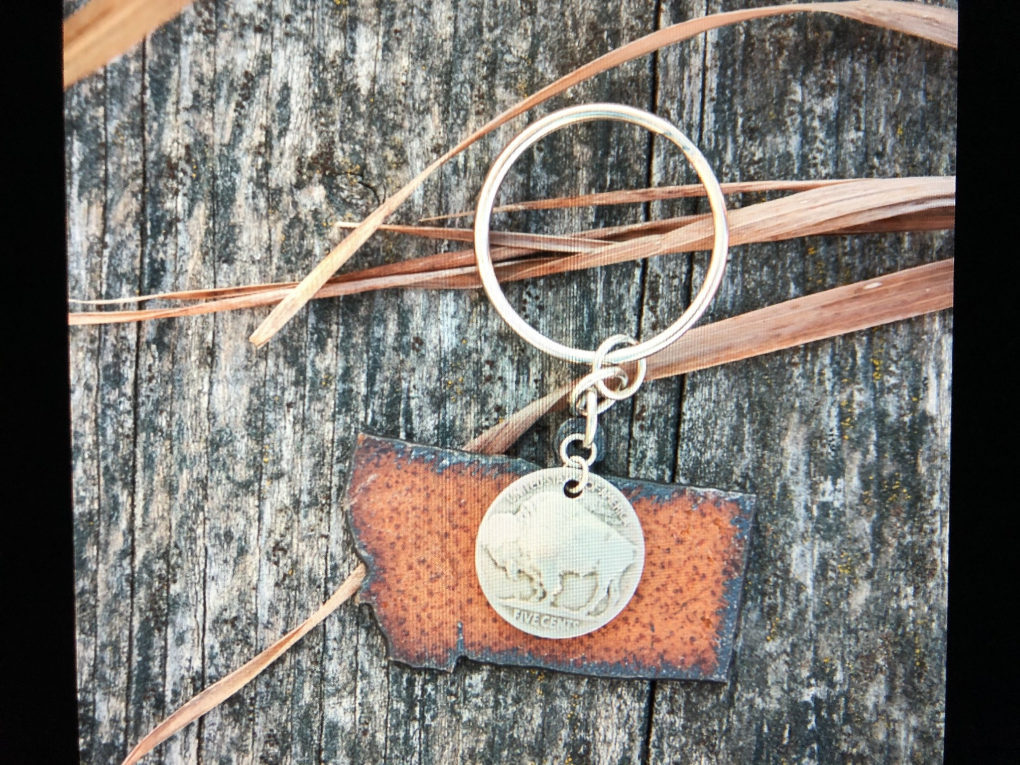 cool water jewelry KC18 Montana w/Buffalo Nickel Key Ring