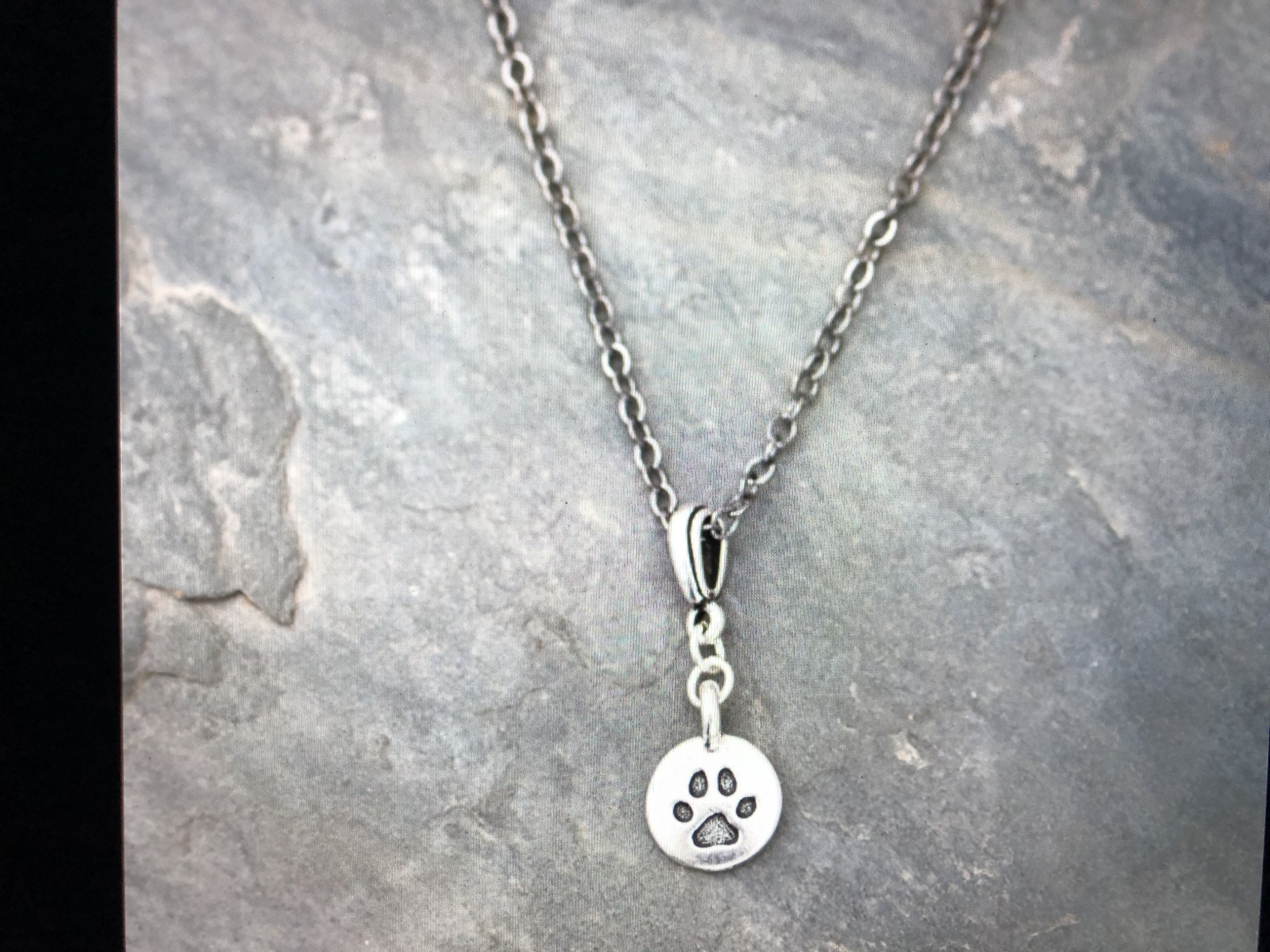 cool water jewelry NC386 Necklace: Dog Paw Charm