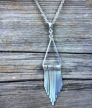 cool water jewelry NC465 Necklace: Blackjack-Geometric Paddle Drop