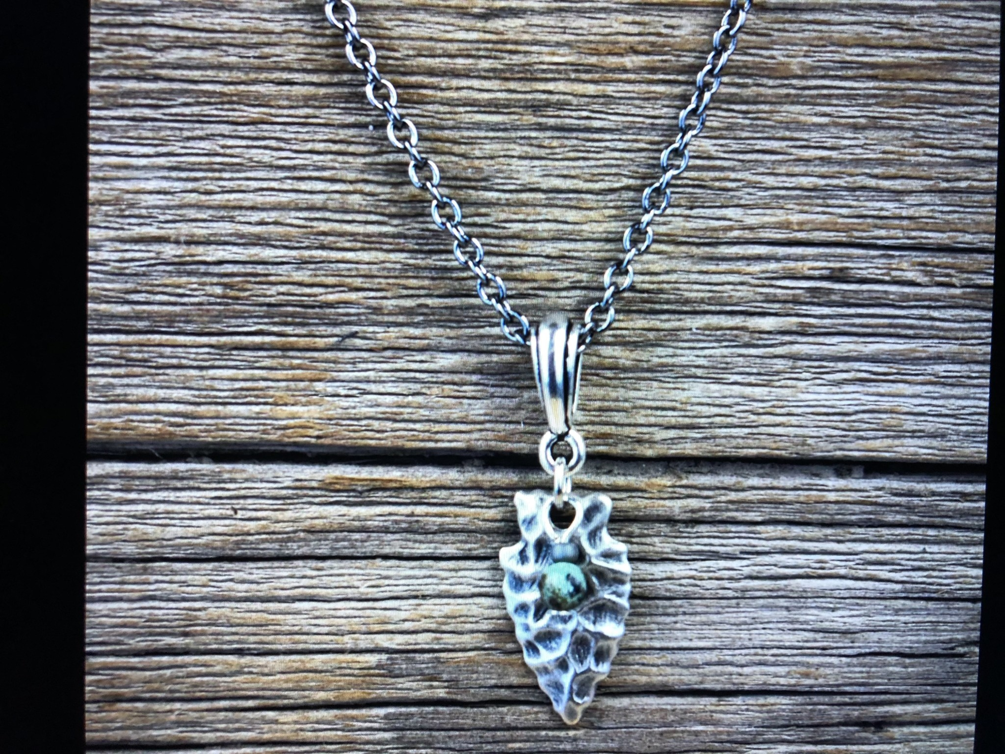 cool water jewelry NC485 Necklace: Pewter Arrowhead & Turquoise