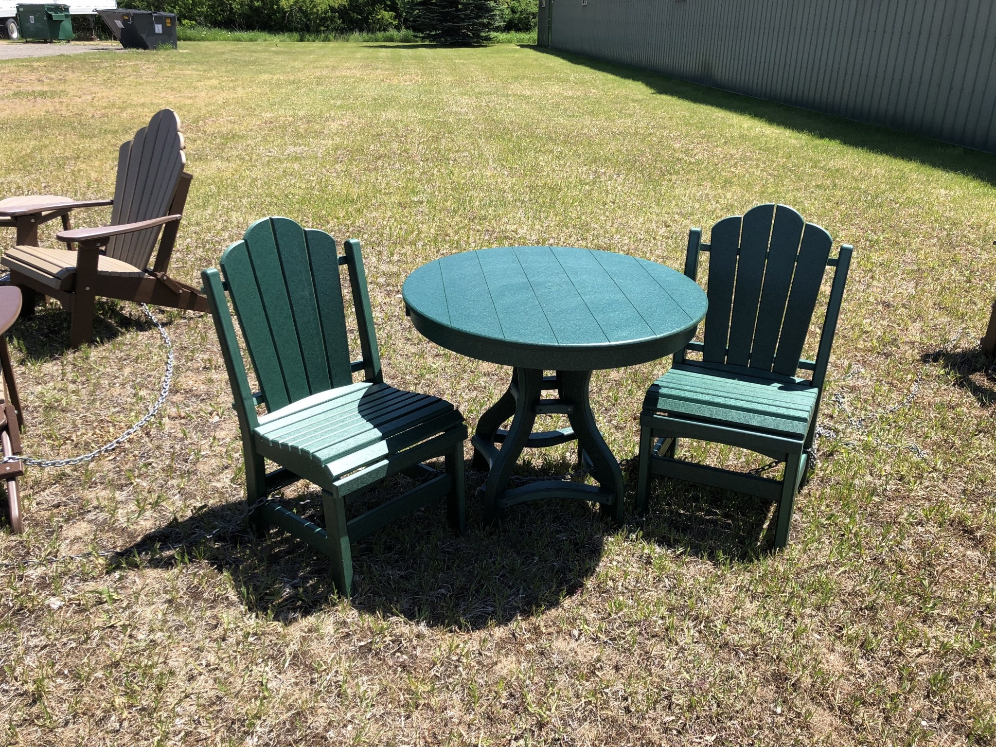 """ALBC 36"""" Round Poly Table - GREEN SO"""