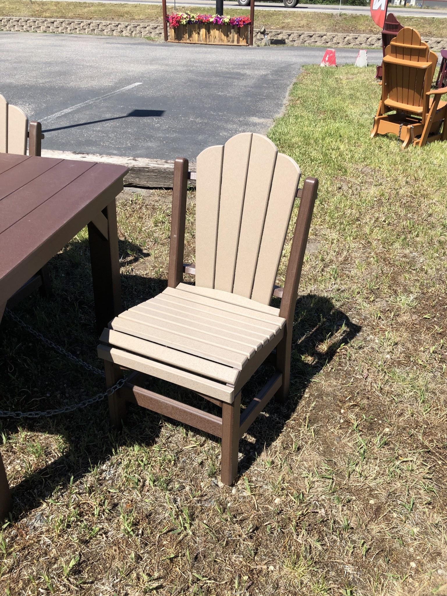 ALBC Poly Side Chair - Chocolate/Weatherwood SO