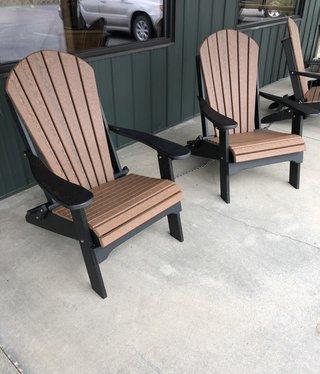 ALBC Poly 2 Tone Folding Adirondack Chair