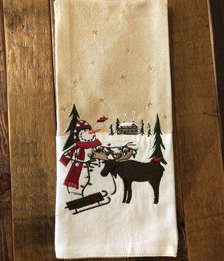 Park Design Snowman & Moose Towel