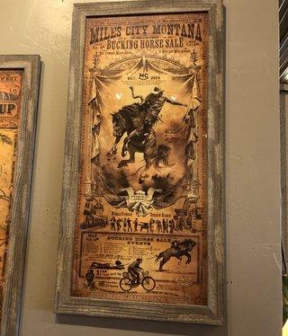 Chuck Lewis Miles City, MT Bucking Horse Sale 22x43