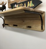 "Co-ALBC 36"" Hickory Shelf and wood hooks"