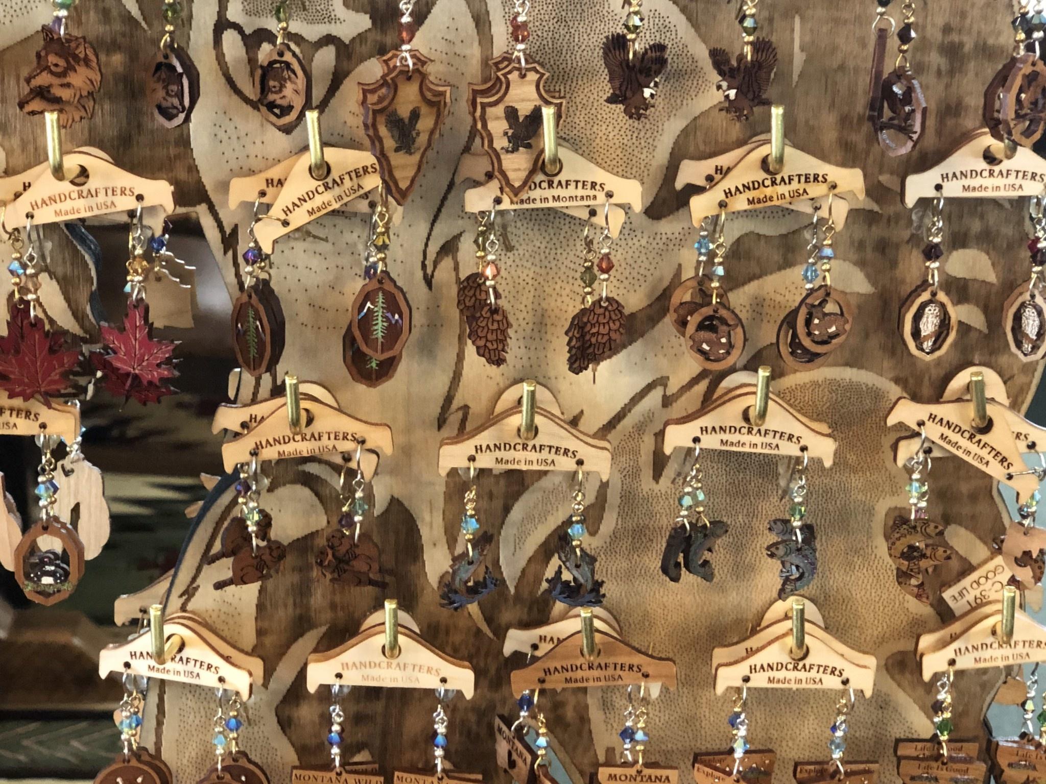 Handcrafters Gifts Wooden Earrings