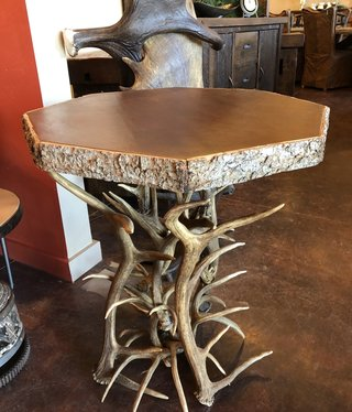 Fish Antler End Table