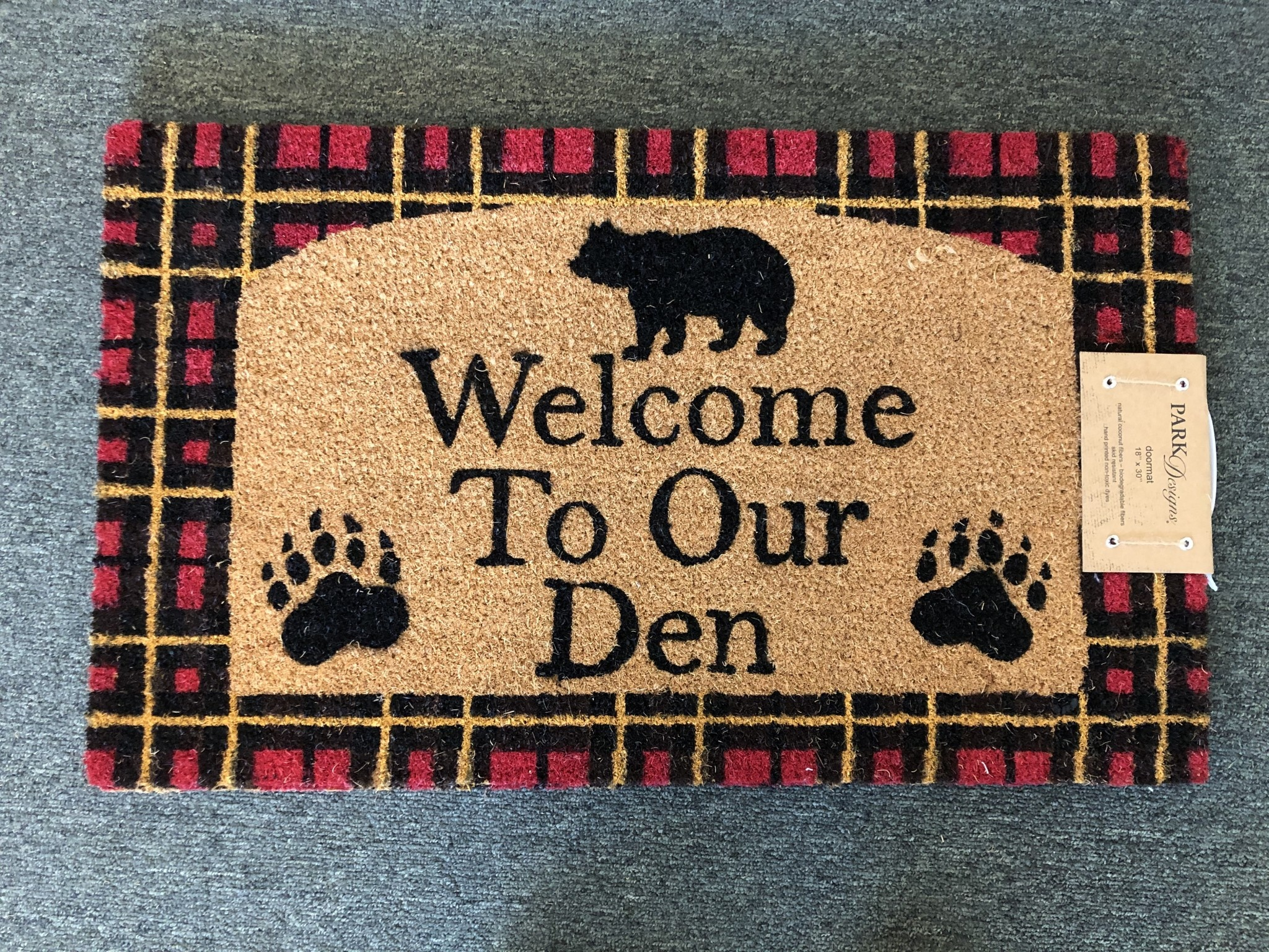 Park Design Welcome to Our Den Mat