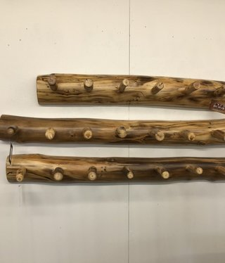 Rustic log Aspen Coat Rack 36""