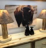Rustic log Aspen Table Lamp