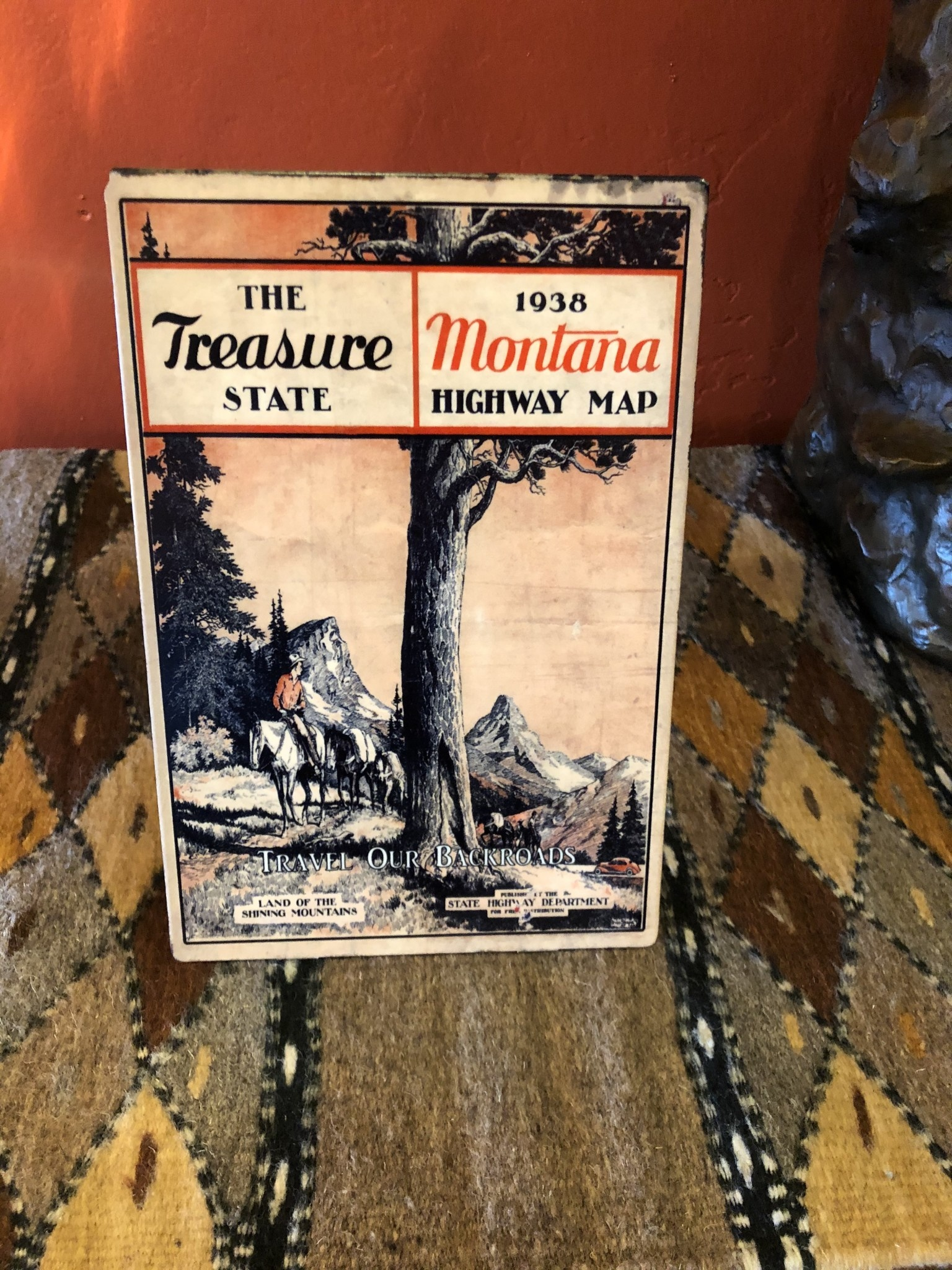 Classic Outdoor Magazines #5 1938 Montana Map Table Topper
