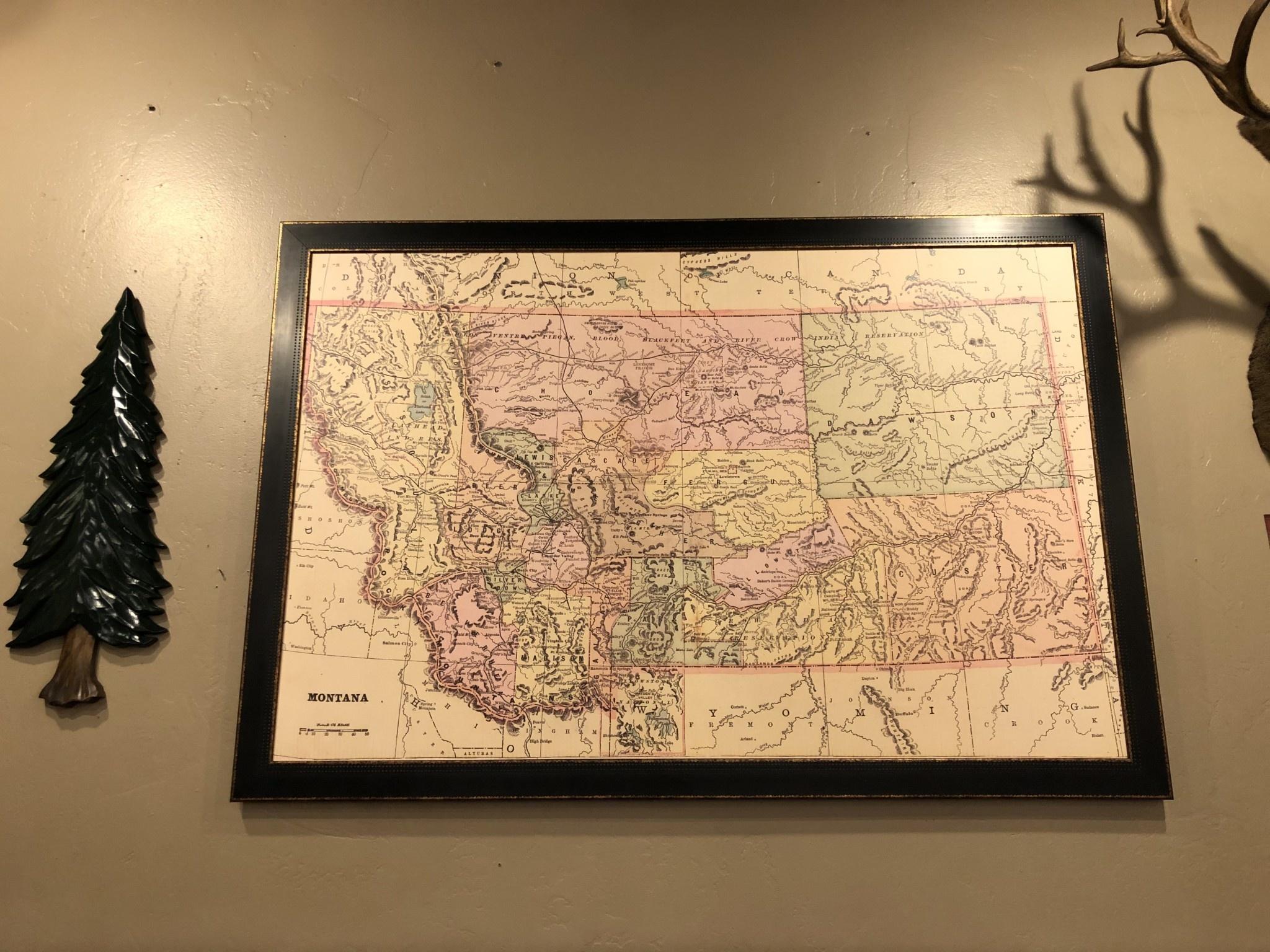 TAC Montana Map -Cram 1892