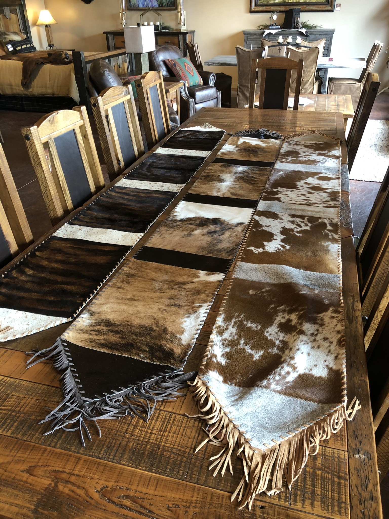 Gaucho X-Large Cowhide Table Runner 9' x 14""