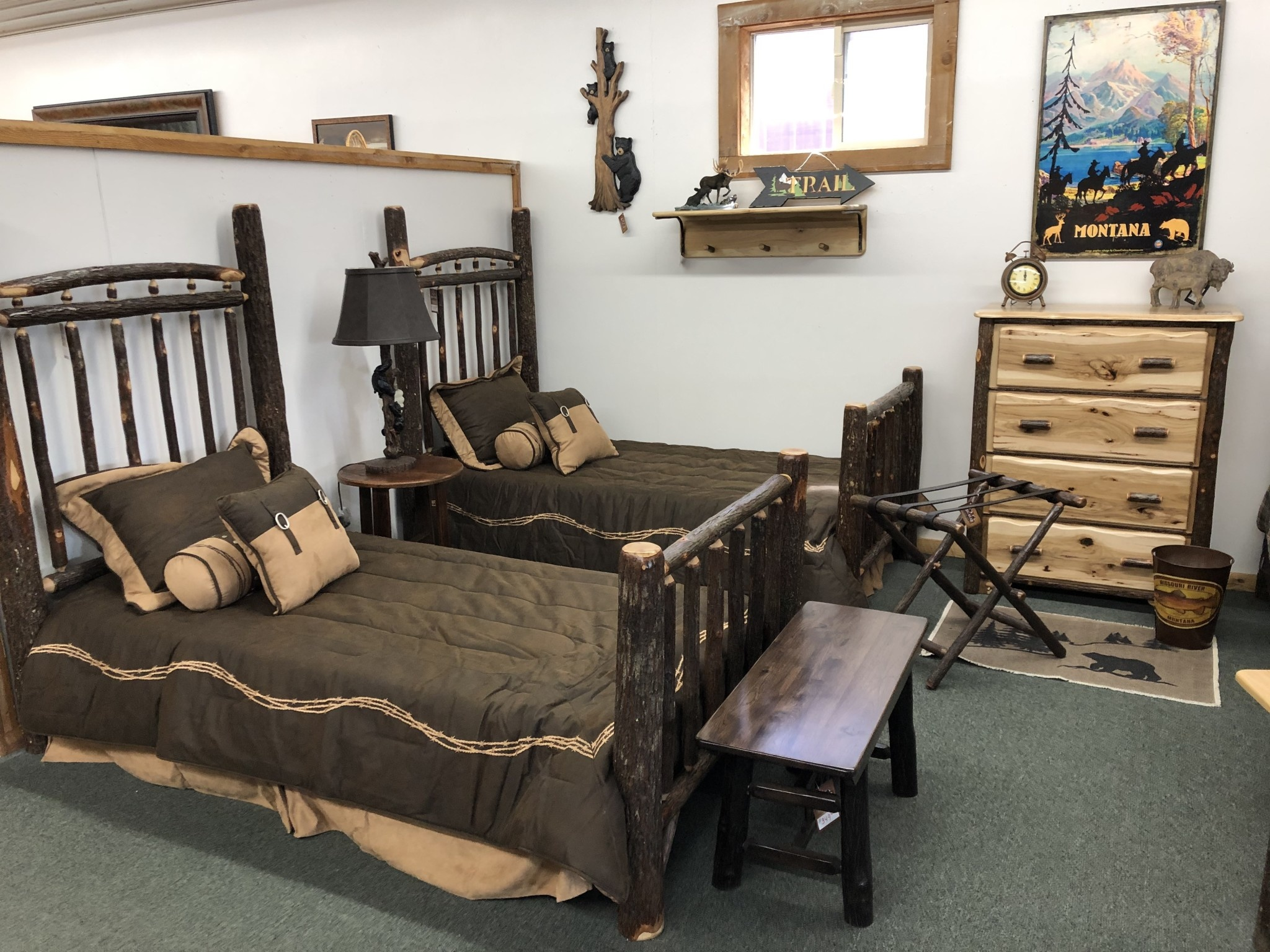 Co-ALBC Hickory Twin Bed