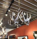 Fish 5 light Whitetail Deer Chandelier (No Base)