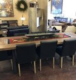 HTD Reclaimed Barnwood Slab Dining Table  96x38x29