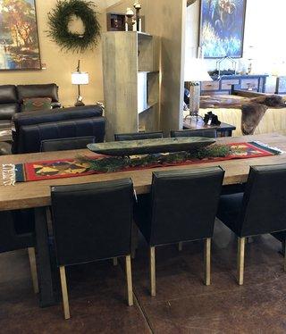 HTD Reclaimed Barnwood Slab Dining Table