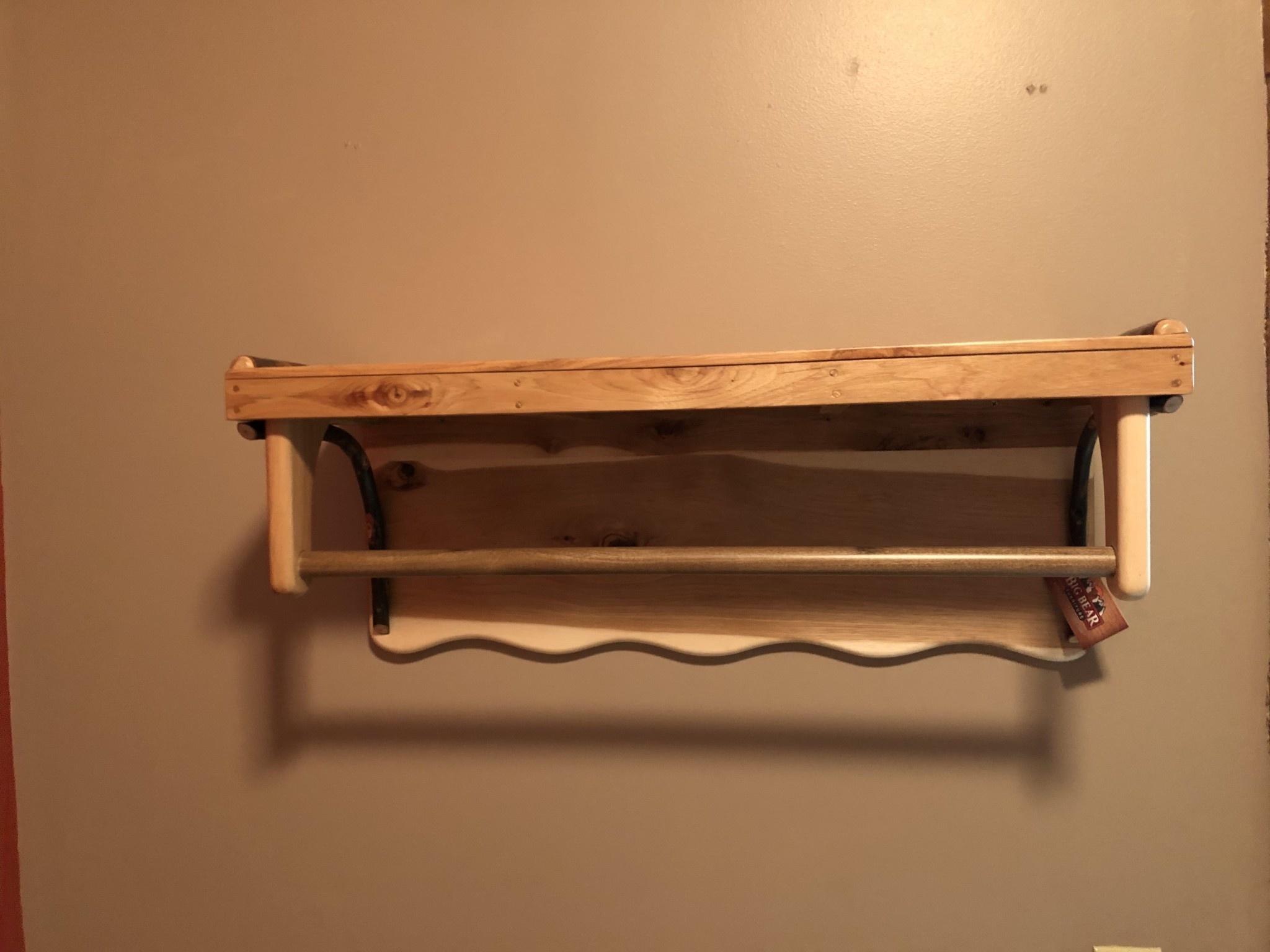 ALBC Large Hickory Shelf w/ hooks- SO