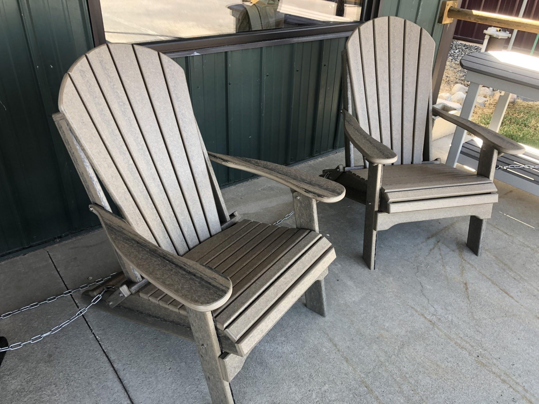 ALBC Poly 2 Tone Folding Adirondack Chair SO