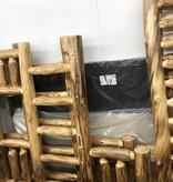 Rustic log Aspen Twin/Queen Bunk Bed