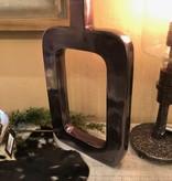 Uma Alum Black Nickel Vase 11x18 (38029)