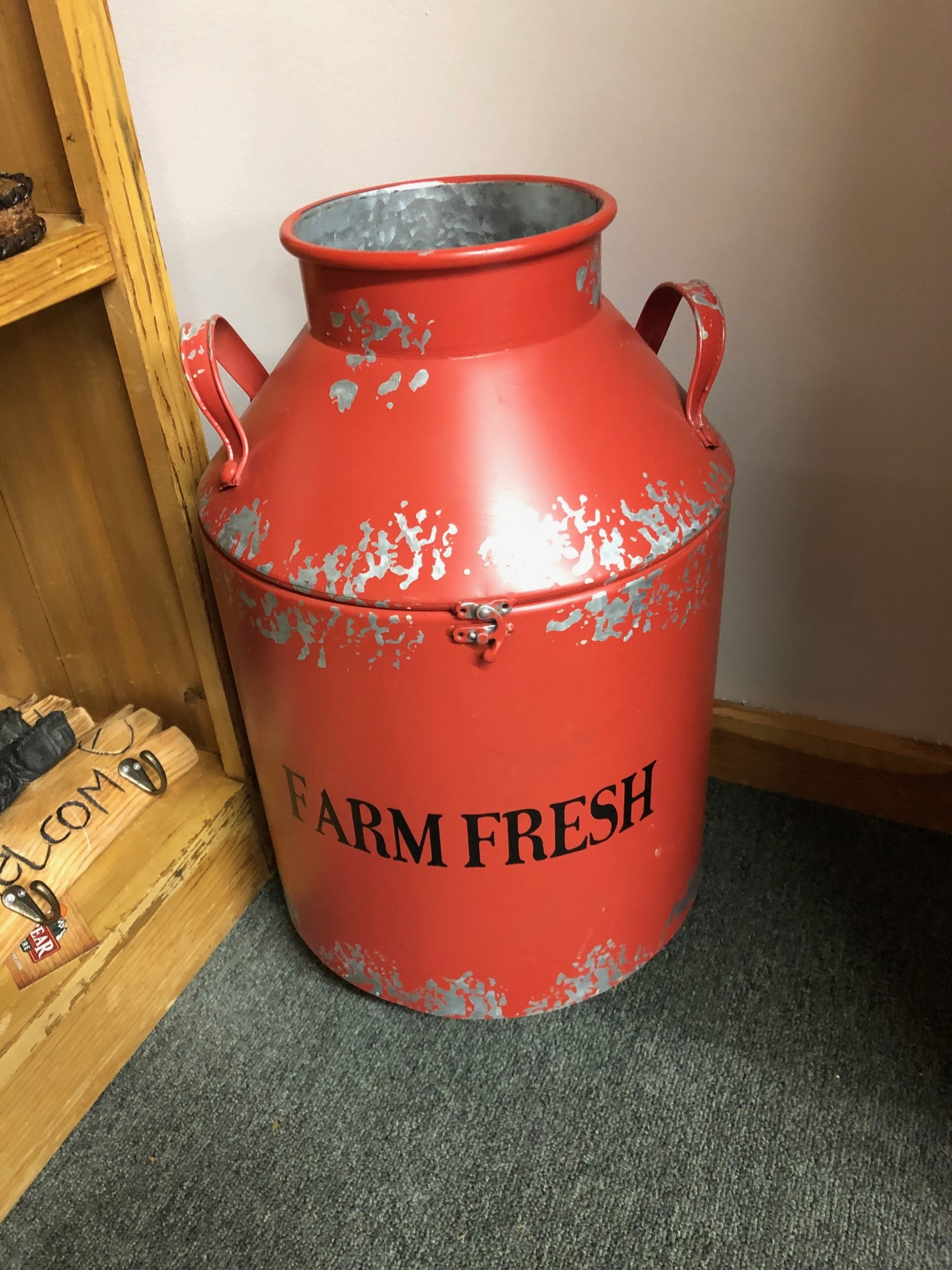 Uma Large Red Milk Can