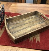 "Uma Medium Wood Tray w/Handles 16""W"