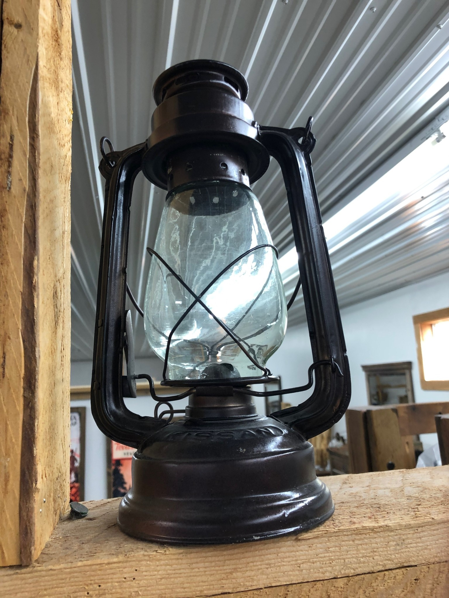 Uma Metal & Glass Lantern (46696)