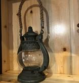 Uma Mtl Glass Jute Lantern (93996)
