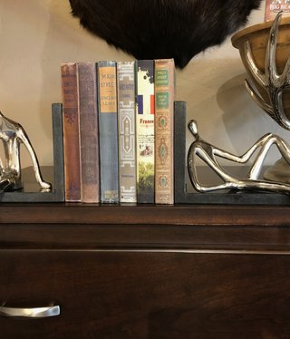 Uma Silver People Bookends Pair