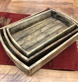 "Uma Small Wood Tray w/Handle 14""W"