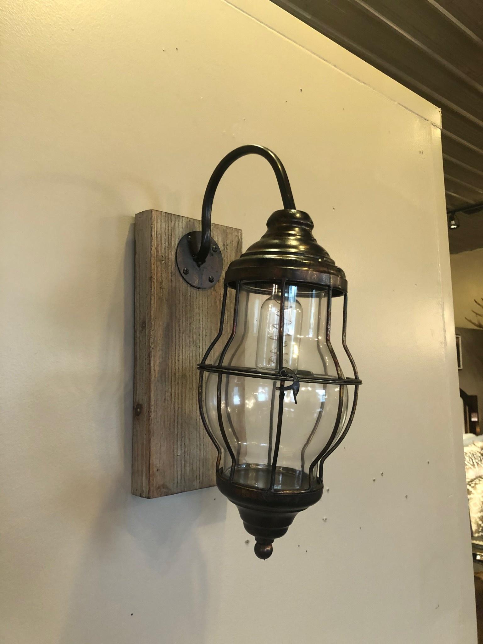 Uma WD Metal Glass LED Wall Sconce (84329)