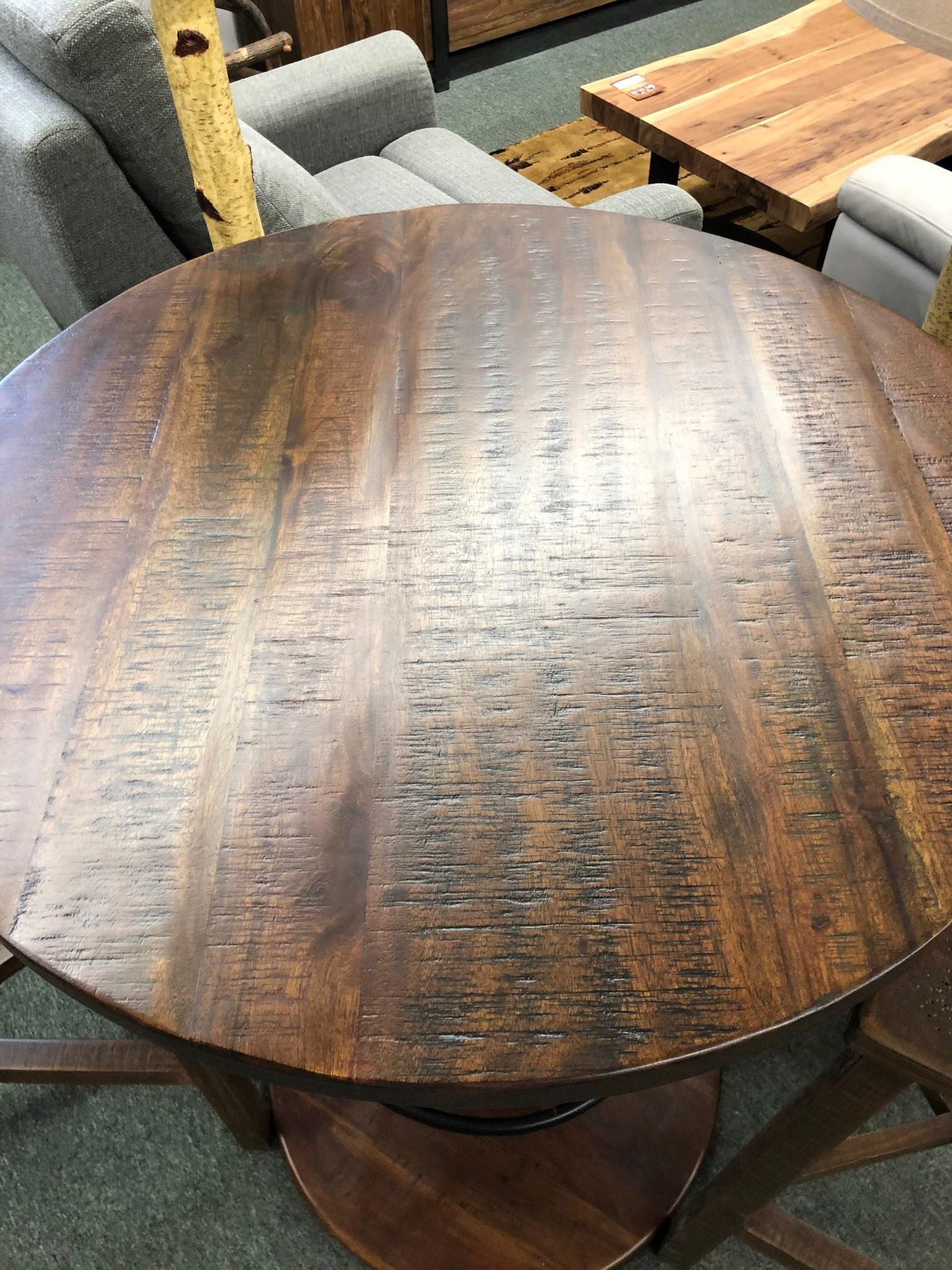 """Uma Wood Bar Table  28""""D x 40""""H"""
