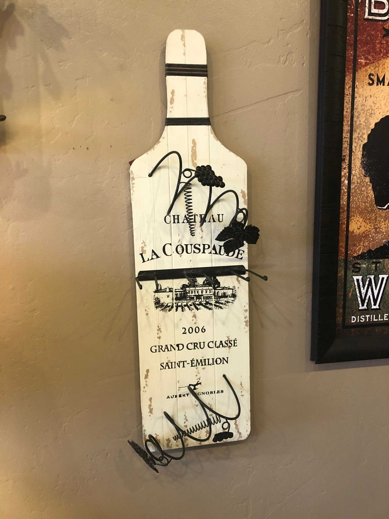 Uma Wood Wall Wine Art (55941)