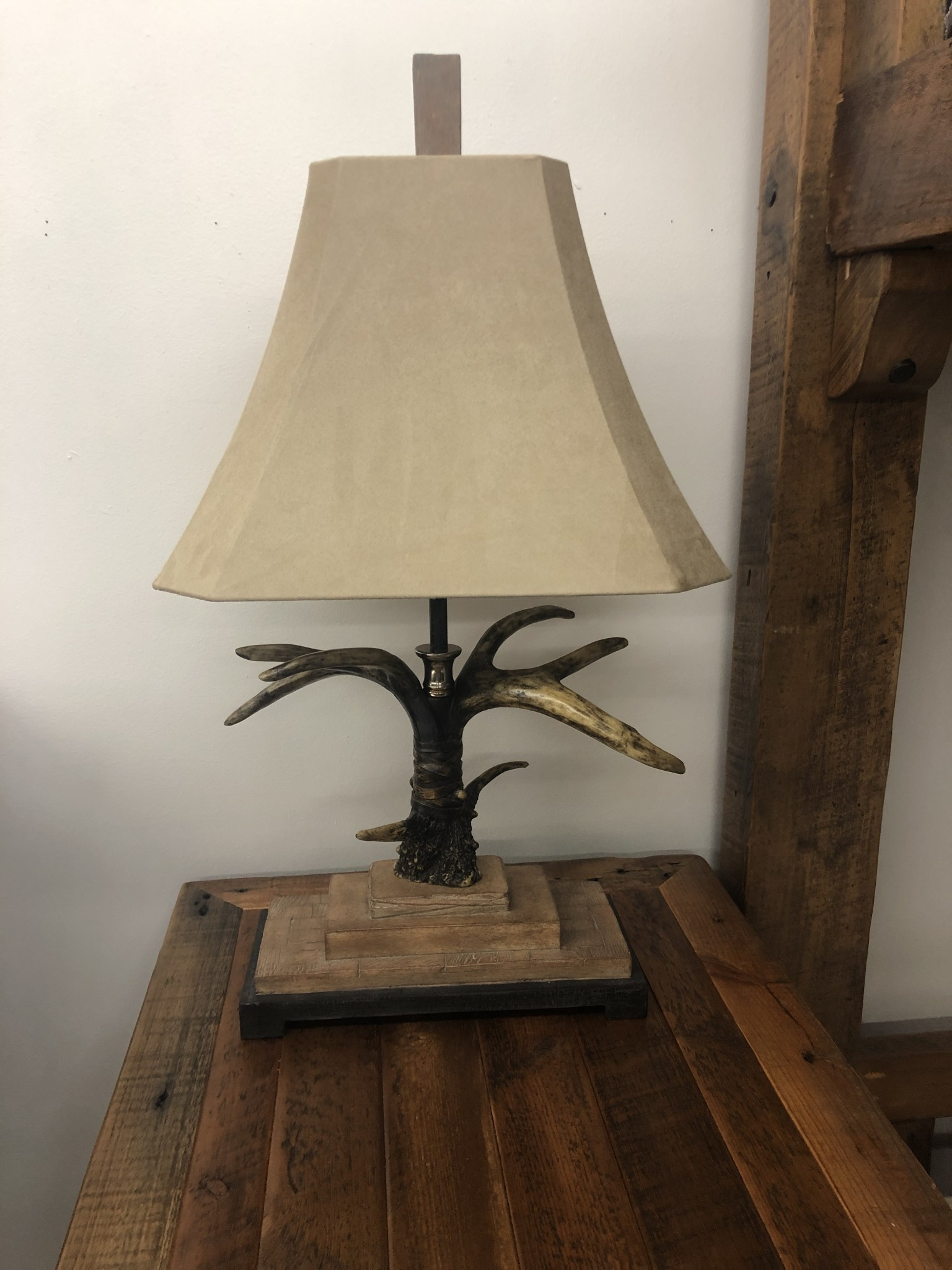 """Uttermost Stag Horn Table Lamp (Light Shade) 31""""H"""