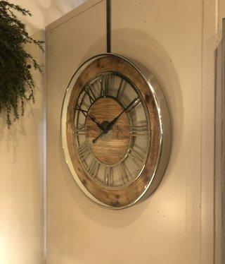 "Uma Wood & metal Wall Clock 30""D"