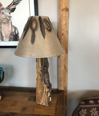Paul Paerson Wood Lamp -- BASE ONLY