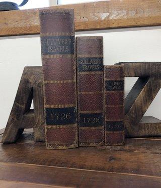Uma A-Z Wood Bookends Pair